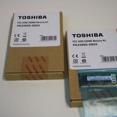 Toshiba-PC2-4200-512MB-2x256MB-DDR2-Notebook-Speicher-NEU-PA3389S-2M25-390562761775